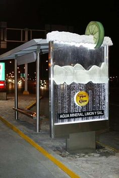 Topo Chico #busstop ambient http://arcreactions.com