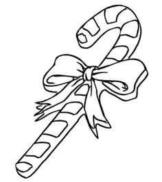 Free Online Candy Cane Colouring Page - Kids Activity Sheets: Christmas Colouring Pages