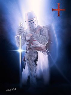 Knight Sword, Knight Art, Knights Templar History, English Knights, Masonic Art, Knight Tattoo, Crusader Knight, Christian Warrior, Armadura Medieval