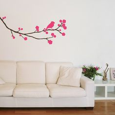Blossoming Tree with Bird – Wall Stickers