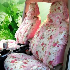 PINK Car seat covers!