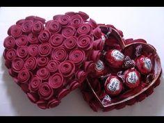 ▶ Caixa decorada com rosa de EVA - YouTube