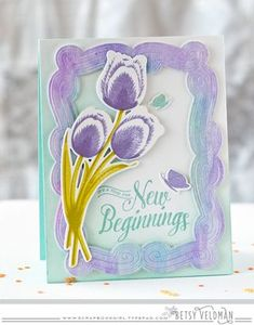 New Beginnings Card by Betsy Veldman for Papertrey Ink (February 2016)