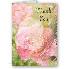 Sweet Roses Thank You card