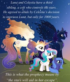It's not true thought because first off lun controls the stars!Shes the night pony!Comple feet moment for the brony who created this! My Little Pony Princess, My Little Pony Comic, My Little Pony Drawing, My Little Pony Pictures, Mlp My Little Pony, My Little Pony Friendship, Celestia And Luna, Princess Celestia, Rainbow Dash
