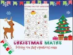 Christmas maths: Solving one step equations maze