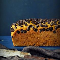 Dotted with choco chips, this egg free Coconut Mango Bread has summer written all over it.