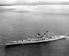 USS Iowa off Korea, 1952