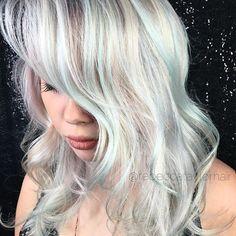 @dear.dorothy wearing her dimensional  platinum like a 90's Drew Barrymore-esque vixen. @brazilianbondbuilder @kenraprofessional #whiteblonde #pastelhair #hair #grunge #whitehair #haircolor #hairstyle