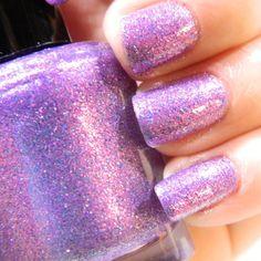 Lilac Dreams Nail Polish Purple Pink Glitter Nail by KBShimmer