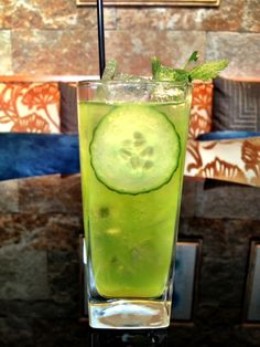 The secret ingredient to @Four Seasons Hotel Silicon Valley at East Palo Alto's refreshing Quattro Cooler? Cucumber. Muddle cucumber and fresh cilantro with 1/4 oz Lime Juice and 1/2 oz Simple Syrup. Add 2 0z Hendricks Gin. Shake with Ice. Double Strain Over Ice Into Rocks Glass. Garnish with cucumber and cilantro.