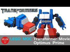 Lego MOC Transformers Mini Movie Optimus Prime Instruction - YouTube Transformers Bumblebee, Transformers Optimus Prime, Lego For Kids, Diy For Kids, Lego Bots, Lego Creative, Micro Lego, Art Drawings Sketches Simple, Lego Instructions