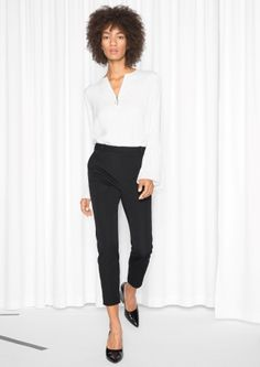 79ab847aebc  amp  Other Stories image 1 of Tailored Trousers in Black Paris Shopping