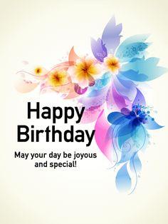 Graceful Flower Happy Birthday Card