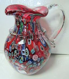 My favorite - a pitcher, and in Murano glass to boot! Murano Pitcher - Millefiori