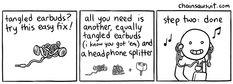chainsawsuit - internet humor, fresh-cut » earbud solutions