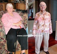 INSPIRATION OF THE DAY! It's NEVER too late to get healthy! Meet Eileen, she lost 110 lbs at 91 years young!! ♥ this job! If she can make the commitment anyone can!   Results vary. Typical weight loss is 2-5lbs the first two weeks and 1-2lbs each week thereafter.