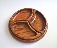 Wooden 4 parts snack platter/ tray set Hand carved by OmarHandmade
