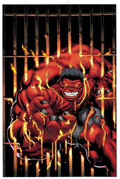 """Red Hulk""""Heats it up"""" ~ byEd McGuinness"""