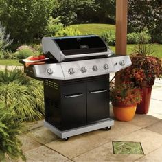 BBQ-Gas-Grill-Stainless-Steel-Backyard-Searing-Side-Burner-Storage-Barbecue-Heat