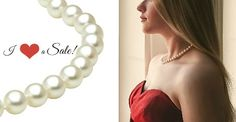 Freshwater Pearl Necklace CLEARANCE SALE on in July. off of the LOWEST price means some great deals available pearljewelrysale Pearl Necklace Set, Freshwater Pearl Necklaces, Pearl Jewelry, Pearl Earrings, South Sea Pearls, Clearance Sale, Fresh Water, Romantic, Group