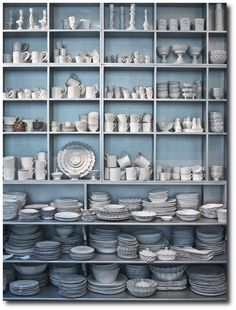 Color and design ideas for the home. Painted Storage Pantry- Antique Looks