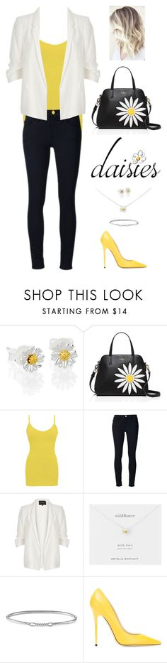 """""""Daisies: Part 2"""" by kateindie ❤ liked on Polyvore featuring Daisy Jewellery, Kate Spade, BKE core, Frame, River Island, Estella Bartlett and Jimmy Choo"""