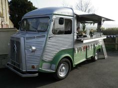 Vintage Citroen H-Van - Hire a Vintage Mobile Bar from Couple of Mugs | http://lavenderandlaceweddings.co.uk