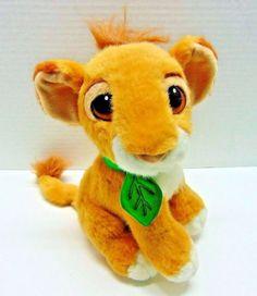 Disney Simba Plush Stuffed Animal Lion King Purring Cub Leaf Collar Vintage #Disney Disney Stuffed Animals, Stuffed Toys, Vintage Disney, Plushies, Cubs, Pikachu, Lion, Sew, Crafty