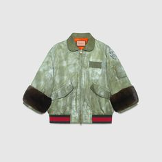 GucciGhost hand painted bomber