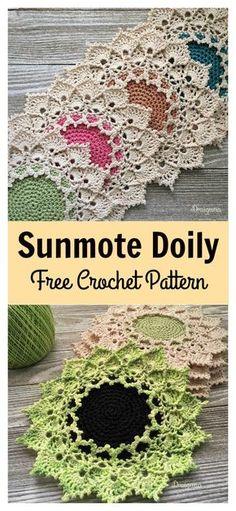 Sunmote Doily Free Crochet Pattern #freecrochetpatterns #doily #freepattern
