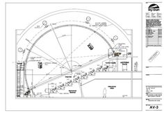 Concept Drawing Theatre Section of the Planetarium by Sky-Sky Inc.