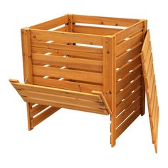 Solid Wood Slatted Compost Bin   Overstock.com Shopping - Big Discounts on Outdoor Storage