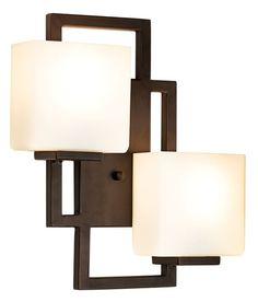 Modern Light on the Square Bronze Possini Euro Wall Sconce - #EU47342 - Euro Style Lighting