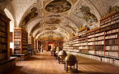 The Theological Hall, Strahov Abbey, Prague, Republica Checa (Europa)