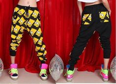 Fashion Hip-hop Cartoon Baggy Pants Crotch Collapse Sweatpants Dance Trousers from Underground Arrival on Storenvy