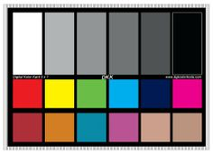"""DGK Color Tools DKK 5"""" x 7"""" Set of 2 White Balance and Color Calibration Charts with 12% and 18% Gray - Includes Frame Stand and U..."""