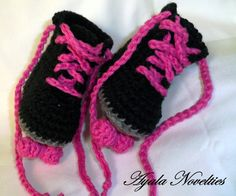 Derby Rink Baby Roller Skates Crocheted Girl Free by RockThis50, $22.00