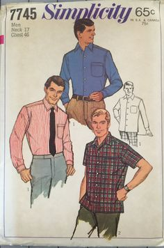 Simplicity 7745 Men's Tapered Sport Shirt Pattern by tealducktoo