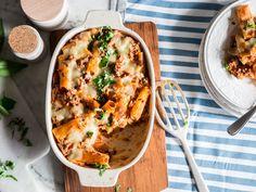 Rigatoni al forno mit Mozzarella und Parmesan