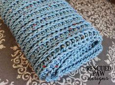 Knit Like Crochet Blanket Pattern :: Rescued Paw Designs