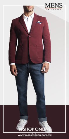 Complementa tu atuendo con un #Saco, así proyectaras distinción. Puedes crear un look versátil con nuestras prendas. Promoción aquí: www.mensfashion.com.mx