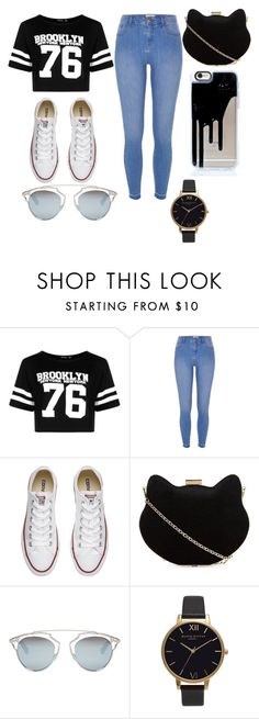 """""""my style"""" by vssxph on Polyvore featuring Boohoo, River Island, Converse, New Look, Christian Dior and Olivia Burton"""