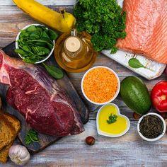 Du bist was du isst! Schlank durch gesunde Ernährung Wellness, Cholesterol, Steak, Protein, Things To Come, Food, Branding Design, Natural, Veggies
