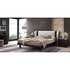 Good This Modern Bed Has A Beautiful Tufted Headboard That Adds A Luxurious Look  To The Whole Piece. This Piece Adds True Luxury To Your Living Space.
