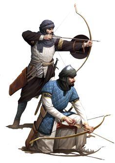 Sicilian Saracen archers by Darren Tan on DeviantArt