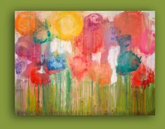 Flower Garden by Ora Birenbaum  I would love something like this for my daughter's room in the future.