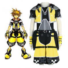 Kingdom Hearts Sora yellow Cosplay Costume