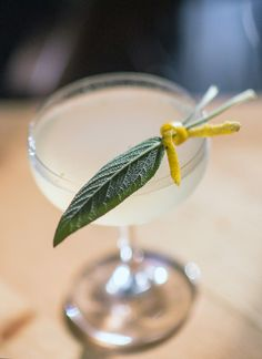 """The winter version of Lafayette's seasonally changing staple-hence, the name Saisonnière, which means """"seasonal"""" in French-is a riff on the basic sour. Th"""