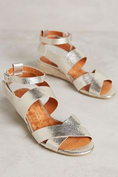 Chie Mihara Criss-Cross Wedges - anthropologie.com